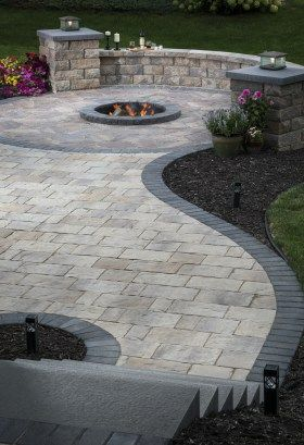beautiful curved patio stone
